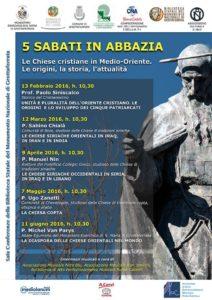 5 Sabati in Abbazia 2016