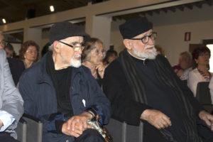 28 maggio 2016. P. Nicola con P. Emiliano, alla presentazione del volume di G. Rinaldi, Pagani e cristiani, organizzata dalla nostra associazione in Abbazia