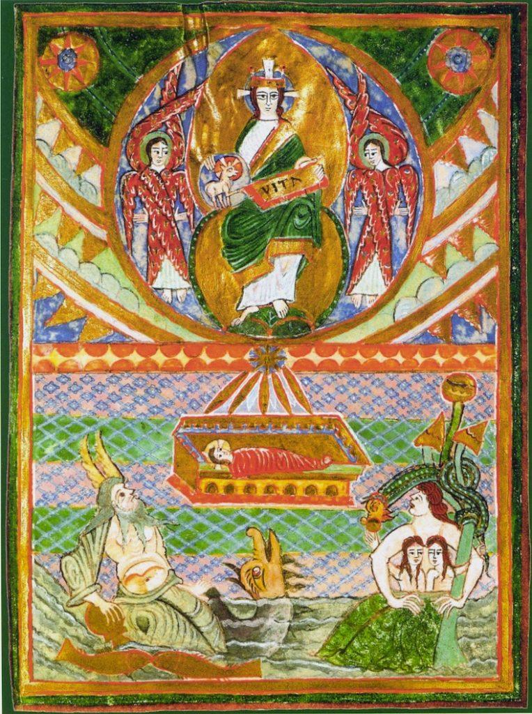La Discesa del Verbo di Dio,Miniatura, Prologo del Vangelo di GiovanniEvangeliario di san Bernward di Hildesheim, 1015 circa